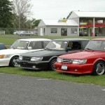 Airflows - Pete's red, Jon's white and Brian's grey - which took 1st in the SPG class, peoples choice award winner.